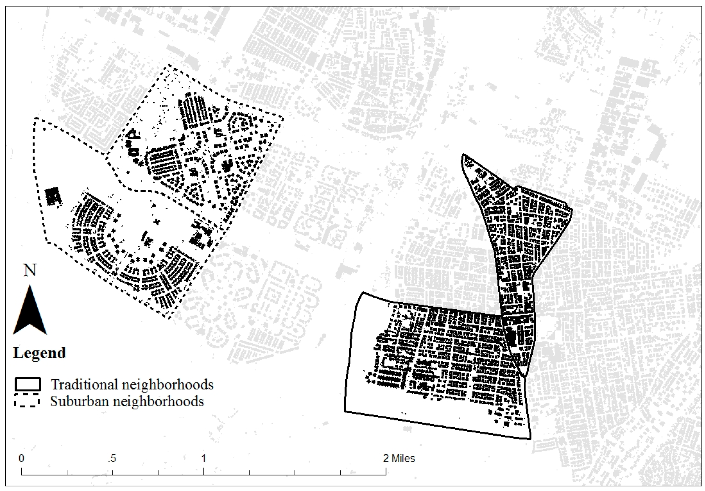 sprawl vs traditional neighborhoods Sprawling cities—such as houston, phoenix, san antonio, san diego, and  of  median household income, versus about 40 percent in traditional cities   outside of traditional neighborhoods, walkable urban development in.