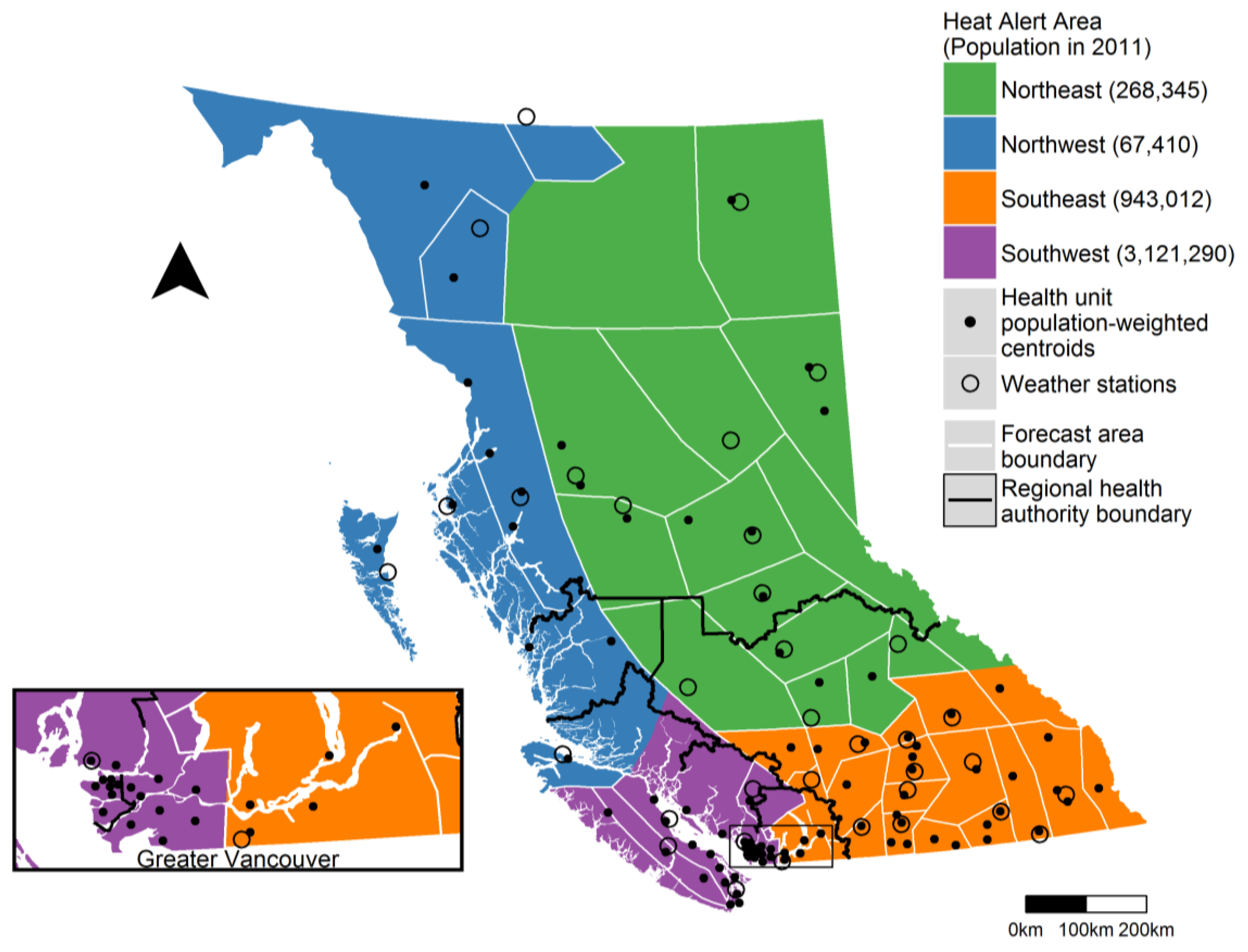 Regional Map Of Canada.Ijerph Free Full Text Establishing Heat Alert Thresholds For The