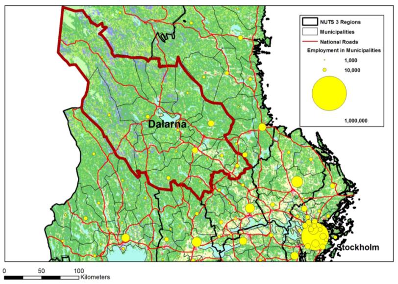 IJGI Free FullText Geoprocessing JourneytoWork Data - Sweden nuts 3 map