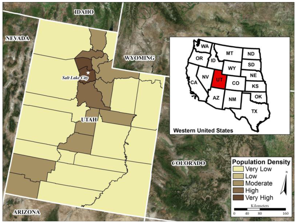 IJGI Free FullText Exploratory Testing Of An Artificial - Map of colorado population density