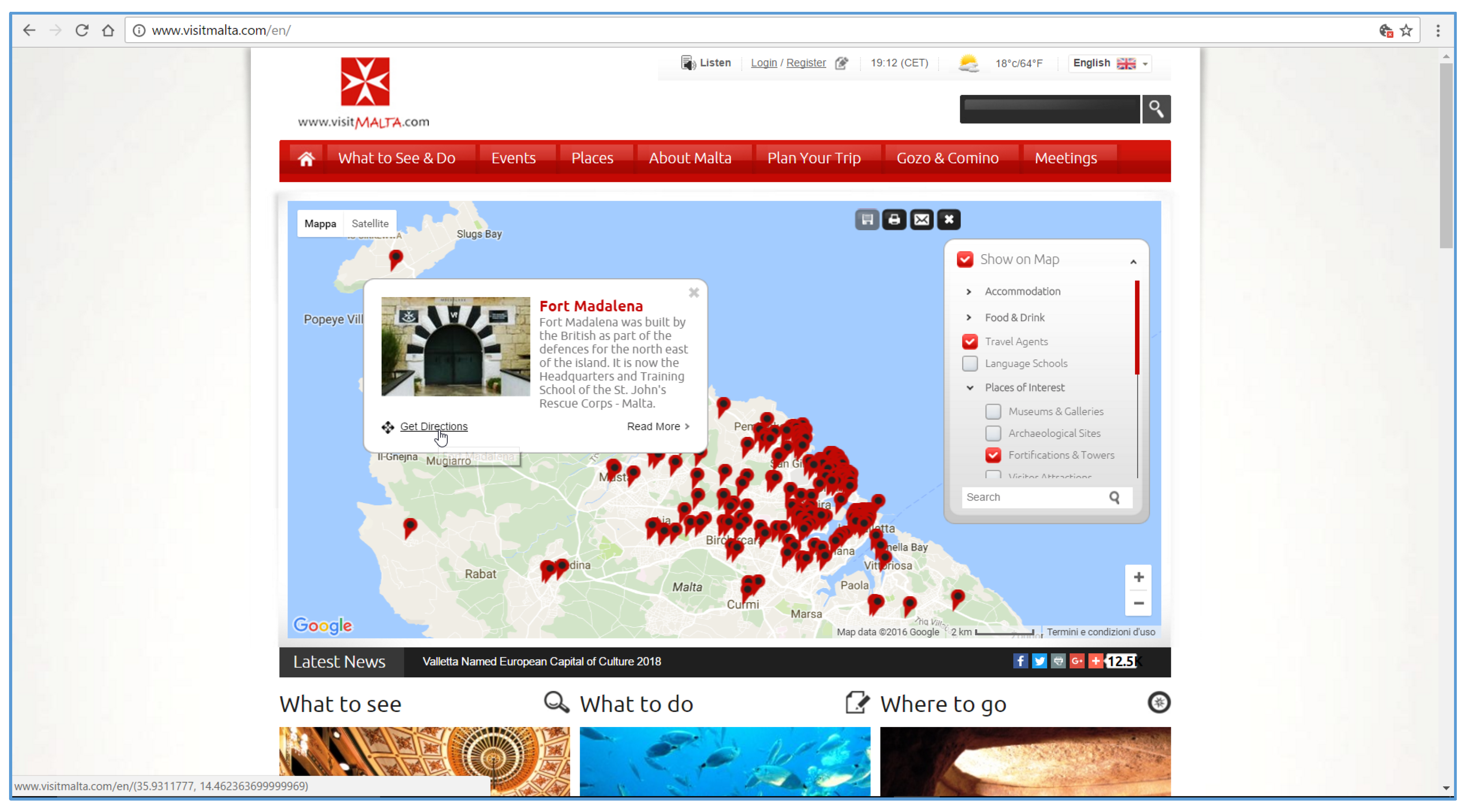 One-Page Multimedia Interactive Map