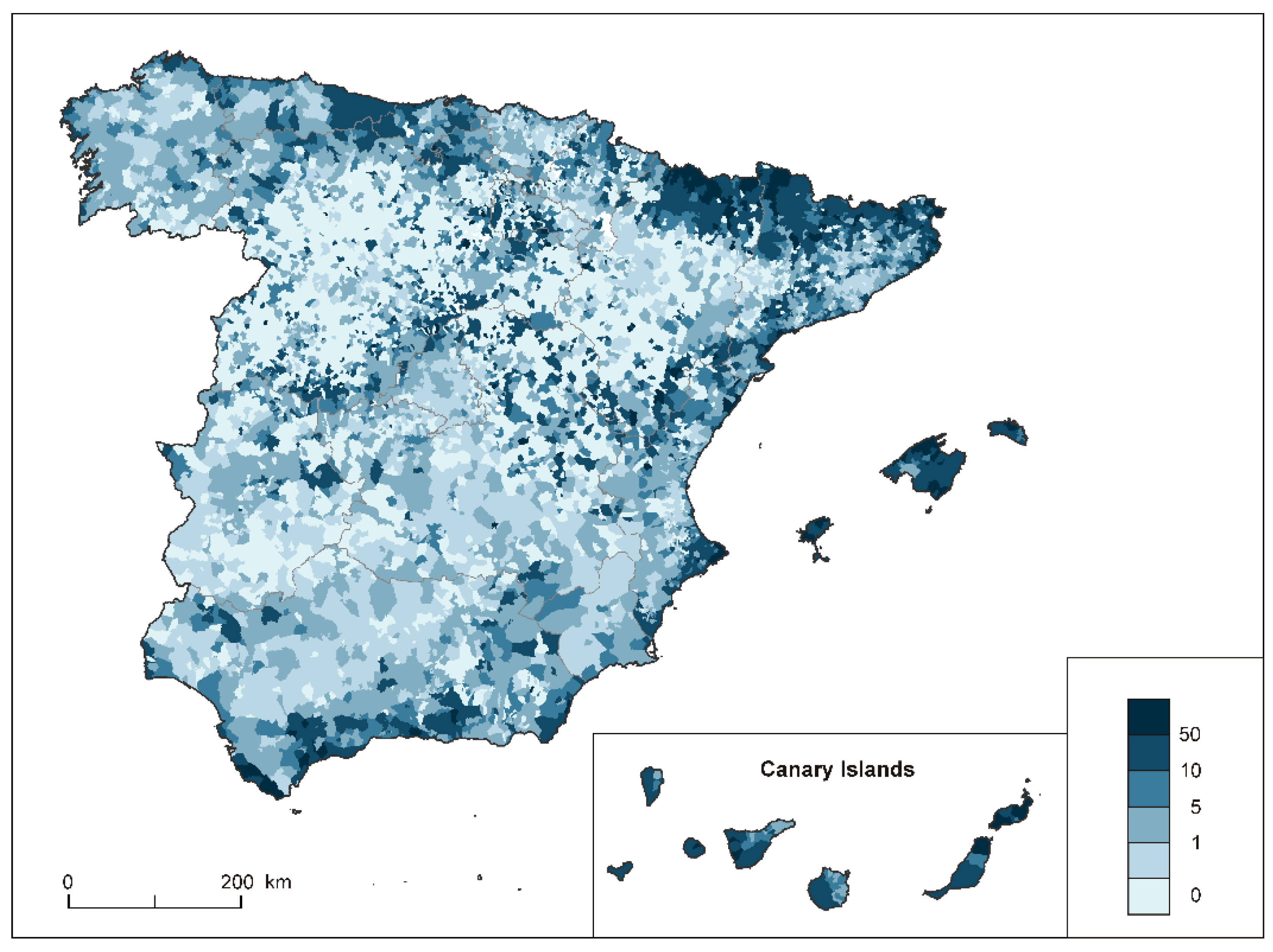 IJGI | Free Full-Text | Airbnb Offer in Spain—Spatial Analysis of