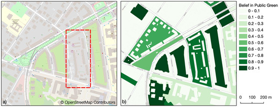 Mapping Public Urban Green Spaces Based on OpenStreetMap and Sentinel-2 Imagery Using Belief Functions
