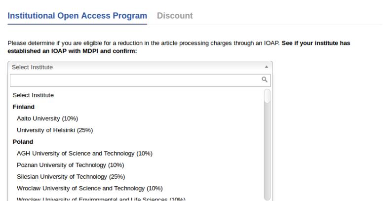 MDPI | Institutional Open Access Program