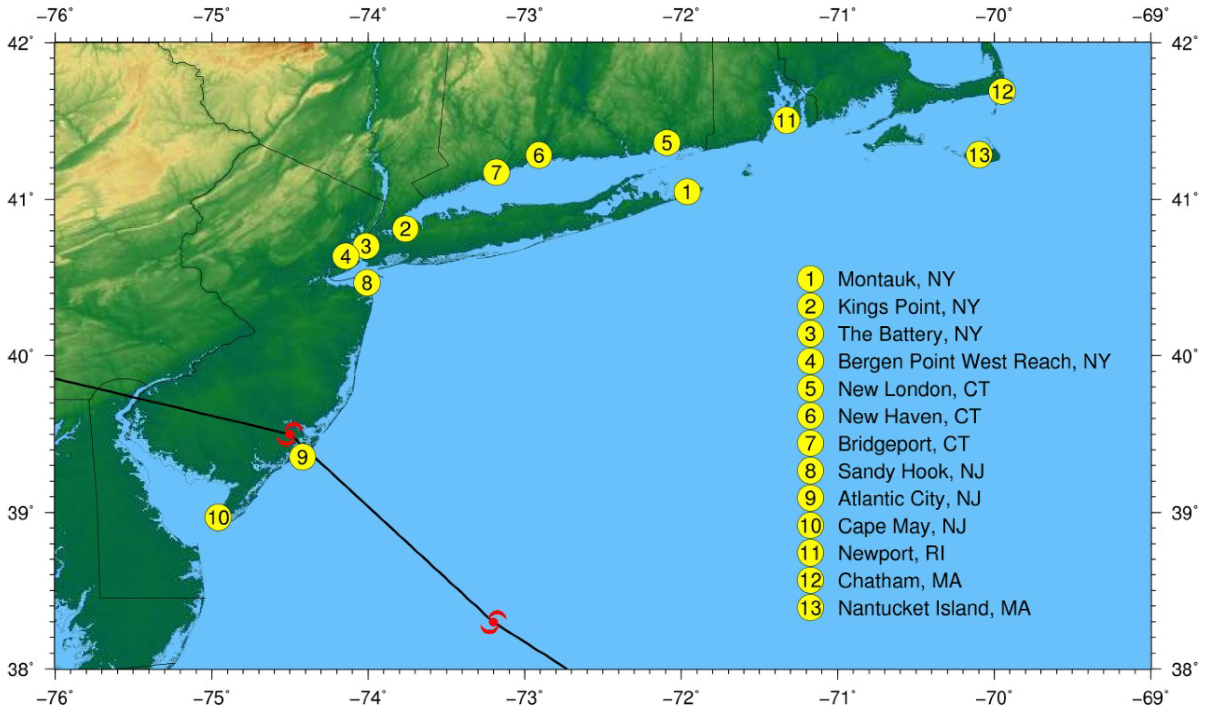 JMSE   Free Full-Text   Predicting the Storm Surge Threat of ... Noaa Storm Surge Map Of Florida on noaa storm surge sandy, noaa storm surge prediction, 2003 tropical storm tracking maps, noaa sea level rise maps,