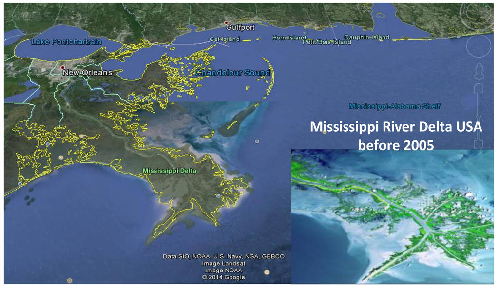 Gallery For Gt Mississippi River Delta Before And After Katrina