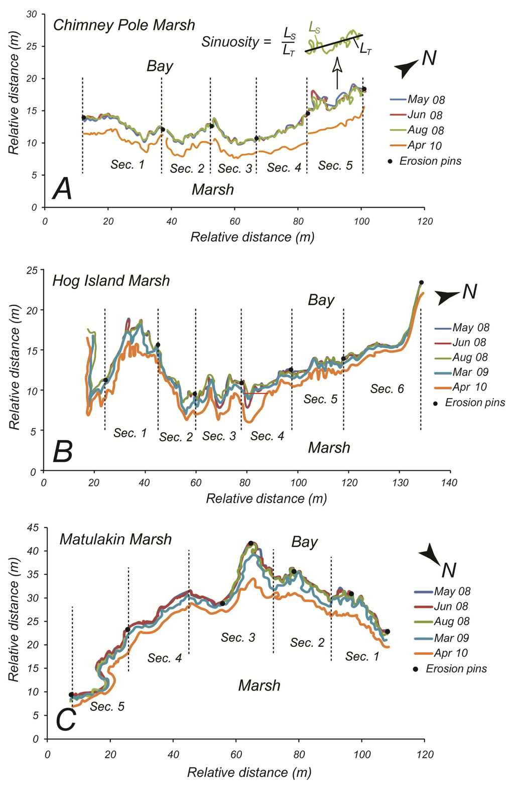 relationship between sediment and nutrients in salt marsh