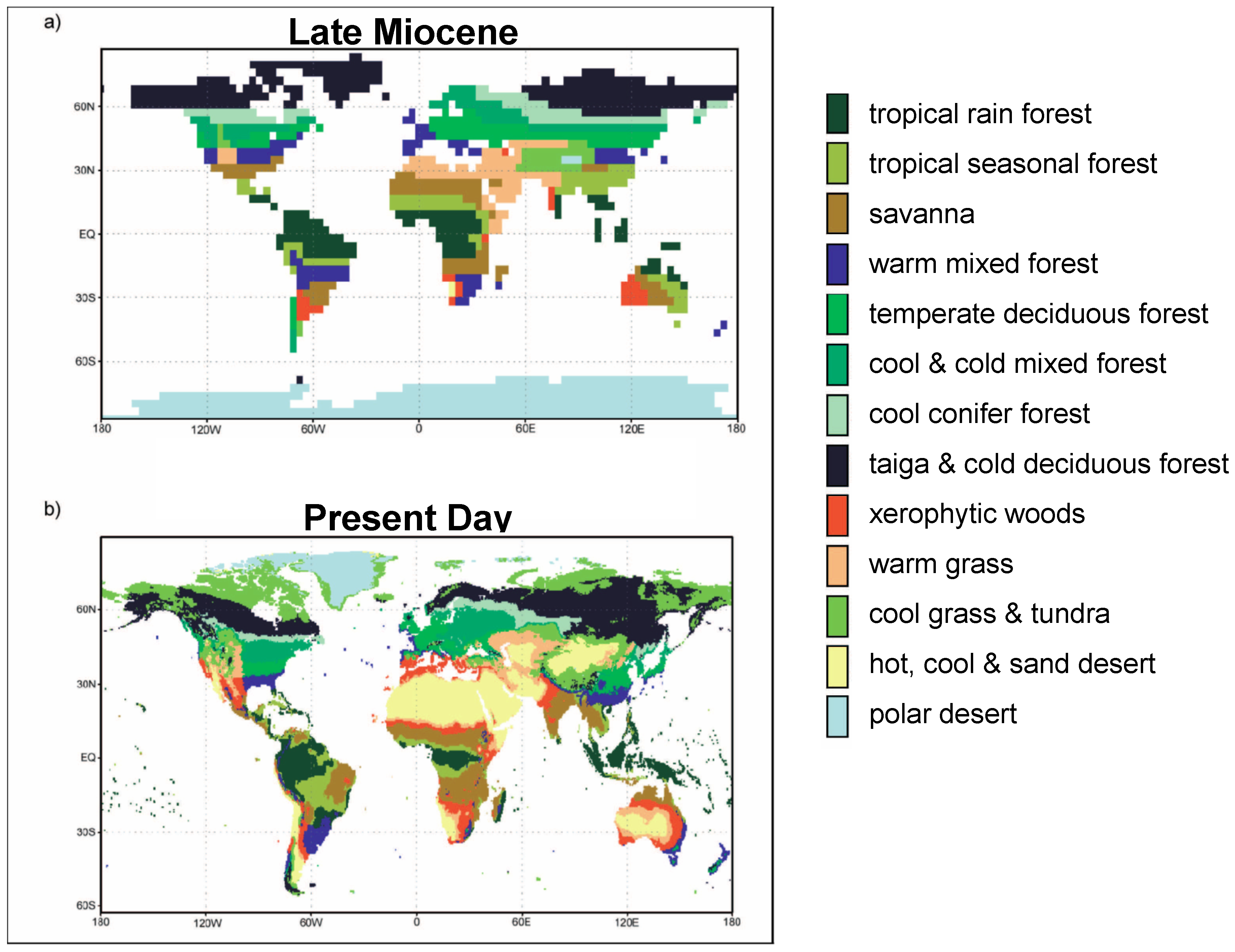 Miocene World Map.Jmse Free Full Text Effect Of Vegetation On The Late Miocene