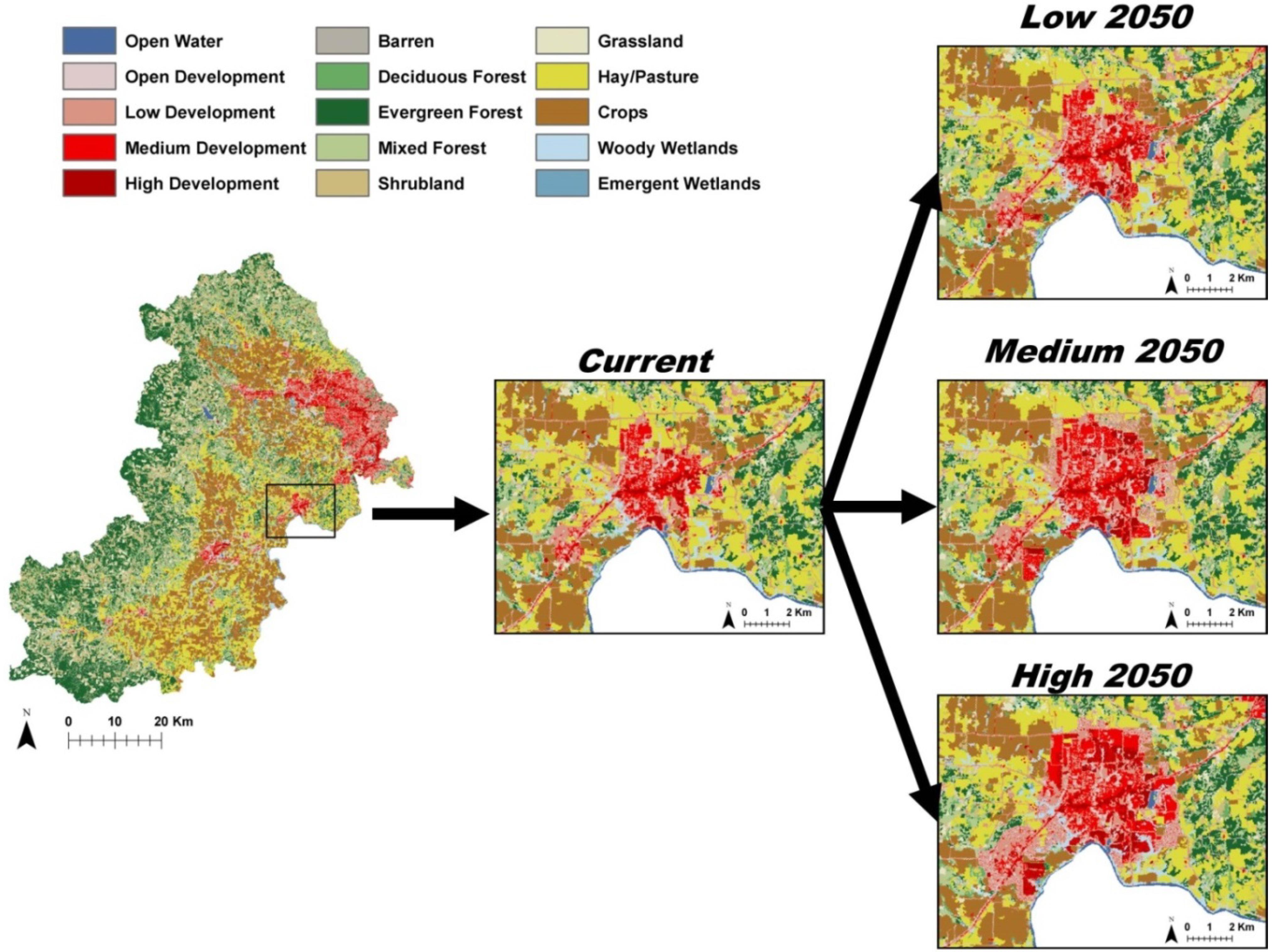 Land Free FullText Development of Future Land Cover Change