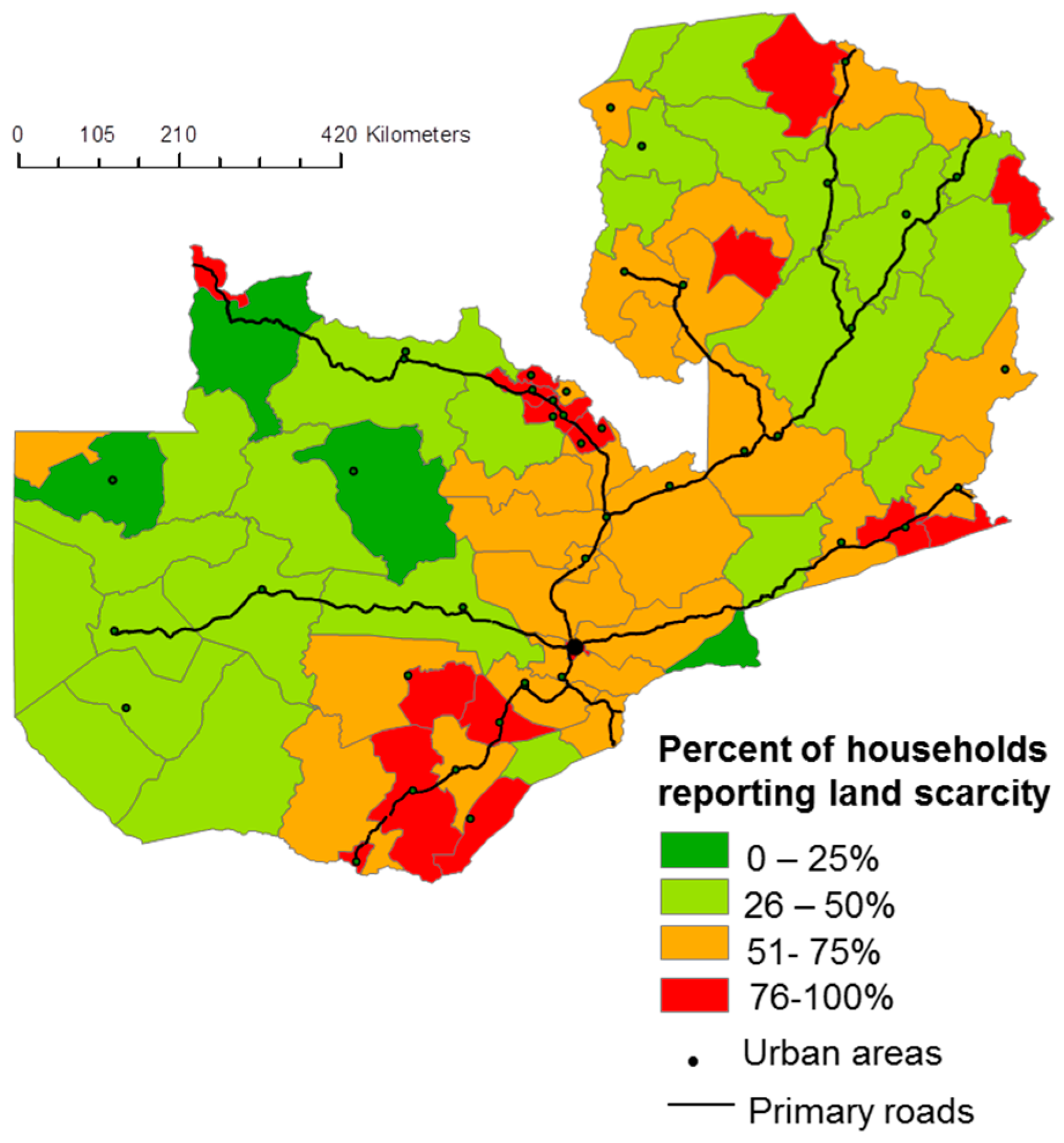 Land | Free Full-Text | The Anatomy of Medium-Scale Farm Growth in Zambia Land Use Map on the jungle in africa on map, africa climate map, atlas mountains africa physical map,