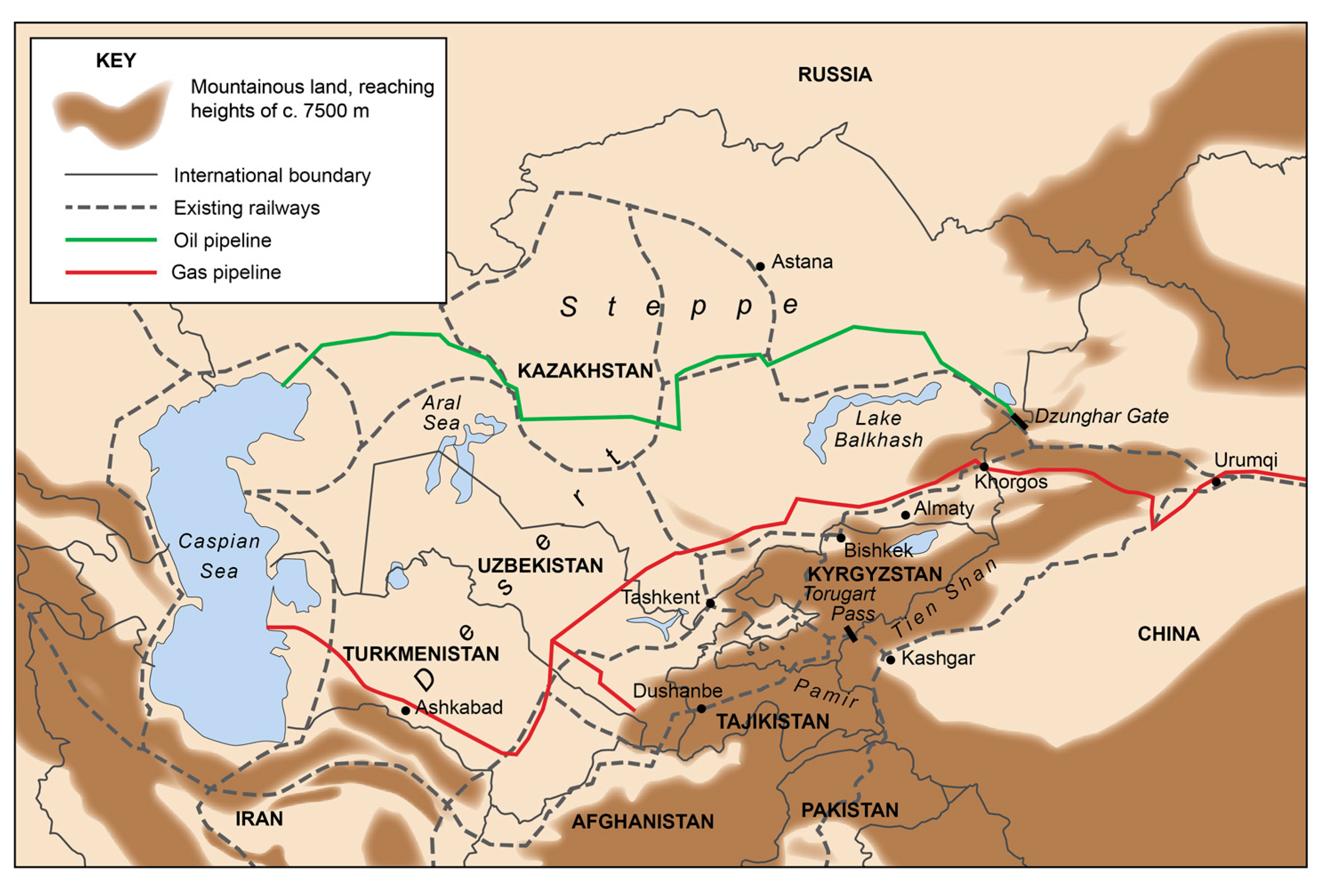 Land Free Full Text Central Asian Characteristics On China S New Silk Road The Role Of Landscape And The Politics Of Infrastructure Html