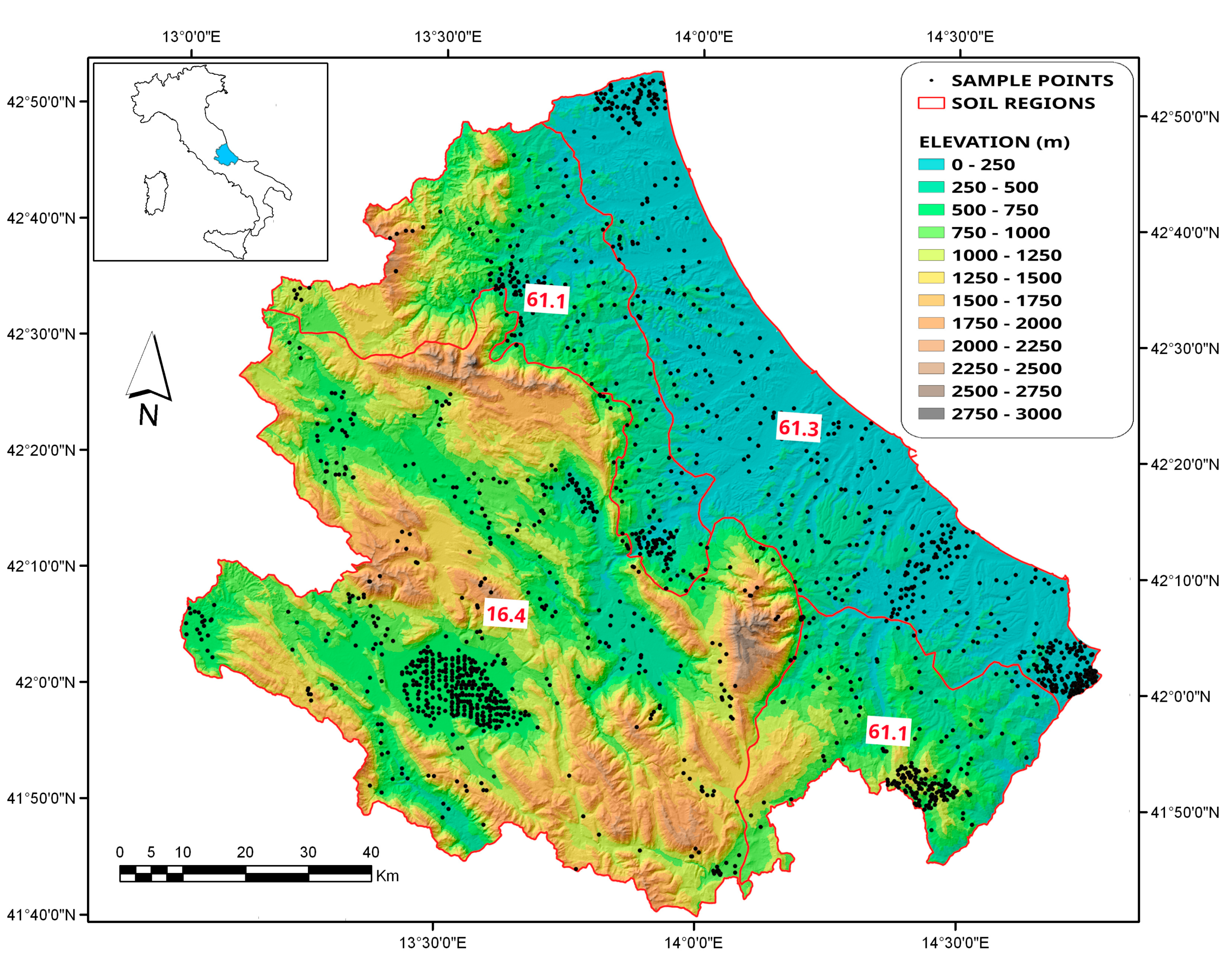 Picture of: Land Free Full Text Predicted Maps For Soil Organic Matter Evaluation The Case Of Abruzzo Region Italy