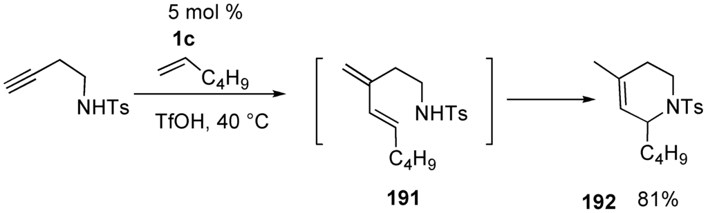enyne metathesis catalyzed by ruthenium carbene complexes