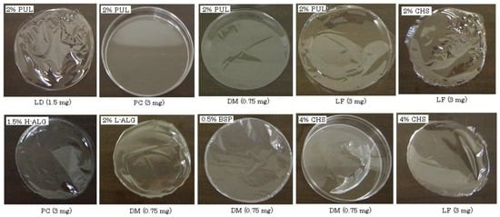 Preparation of Fast Dissolving Films for Oral Dosage from Natural Polysaccharides