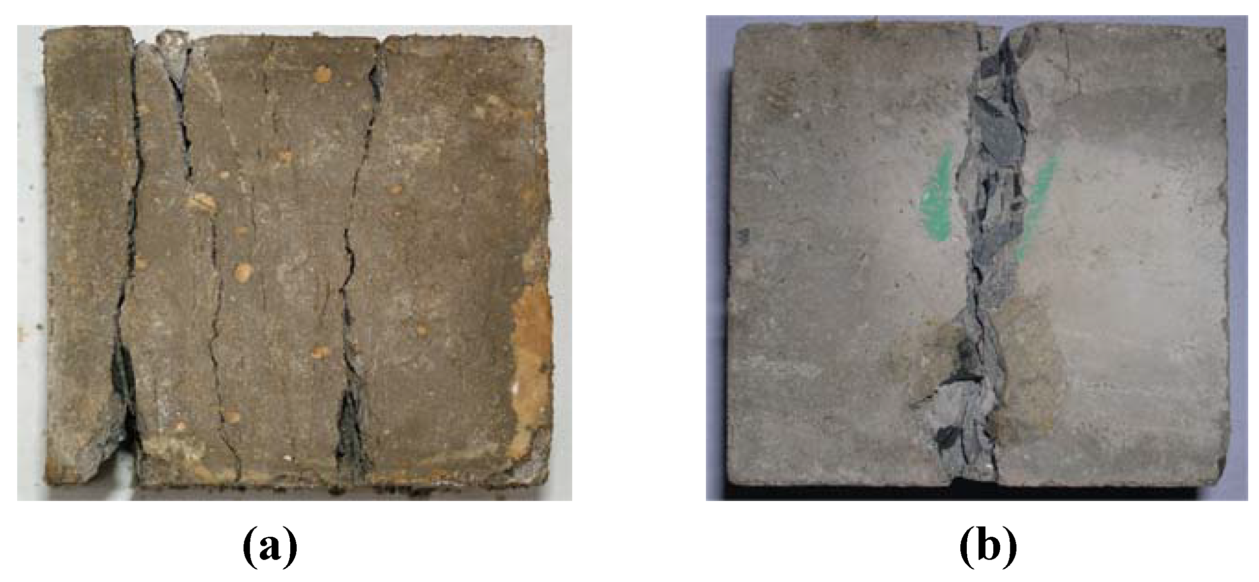 Materials free full text behavior of plain concrete of for What happens to concrete if it freezes