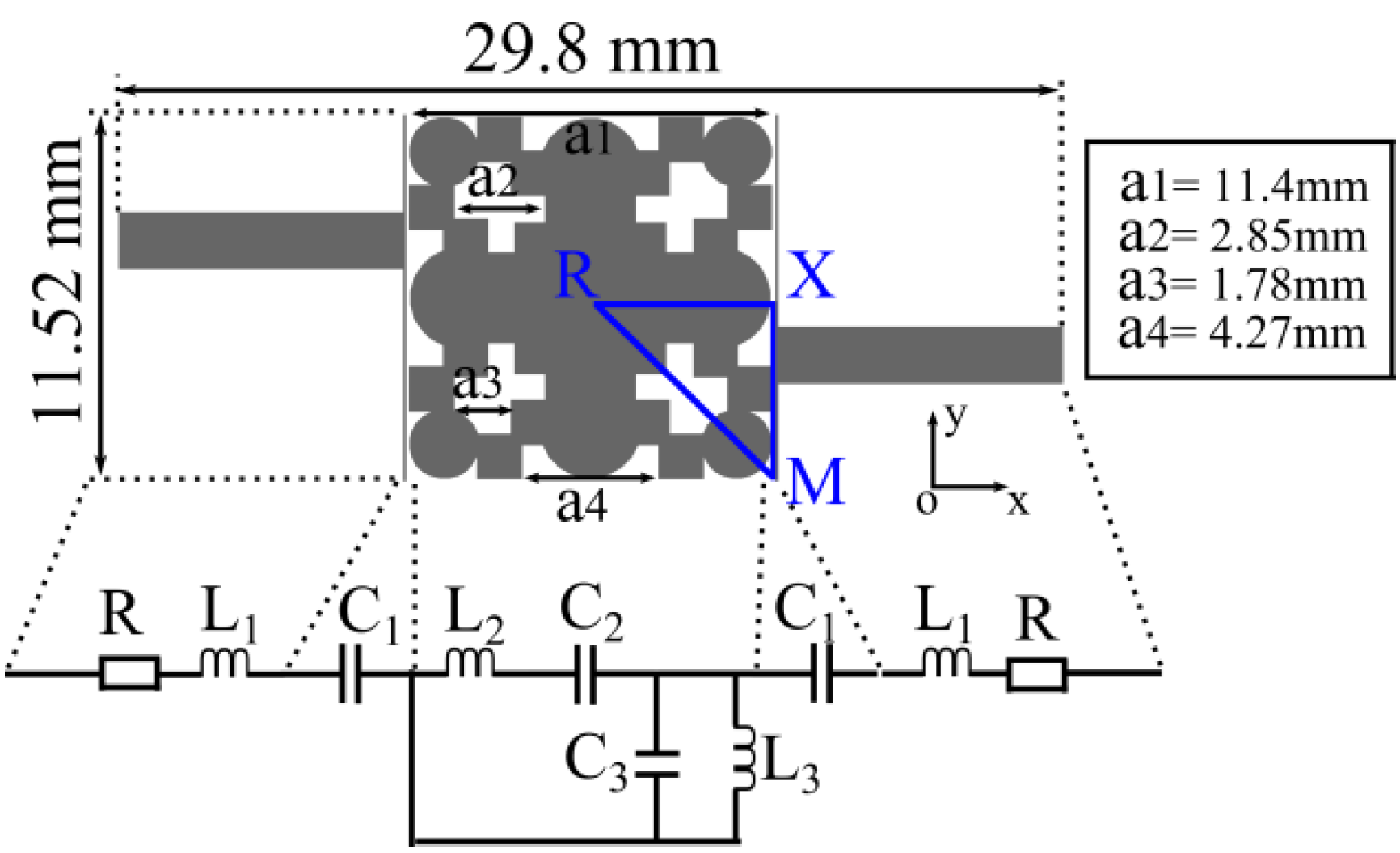 Materials Free Full Text A Compact Band Pass Filter With High Bandpass Reject Circuit Is 06 05613 G002 Figure 2 Layout Of The Bpf Its Characteristic
