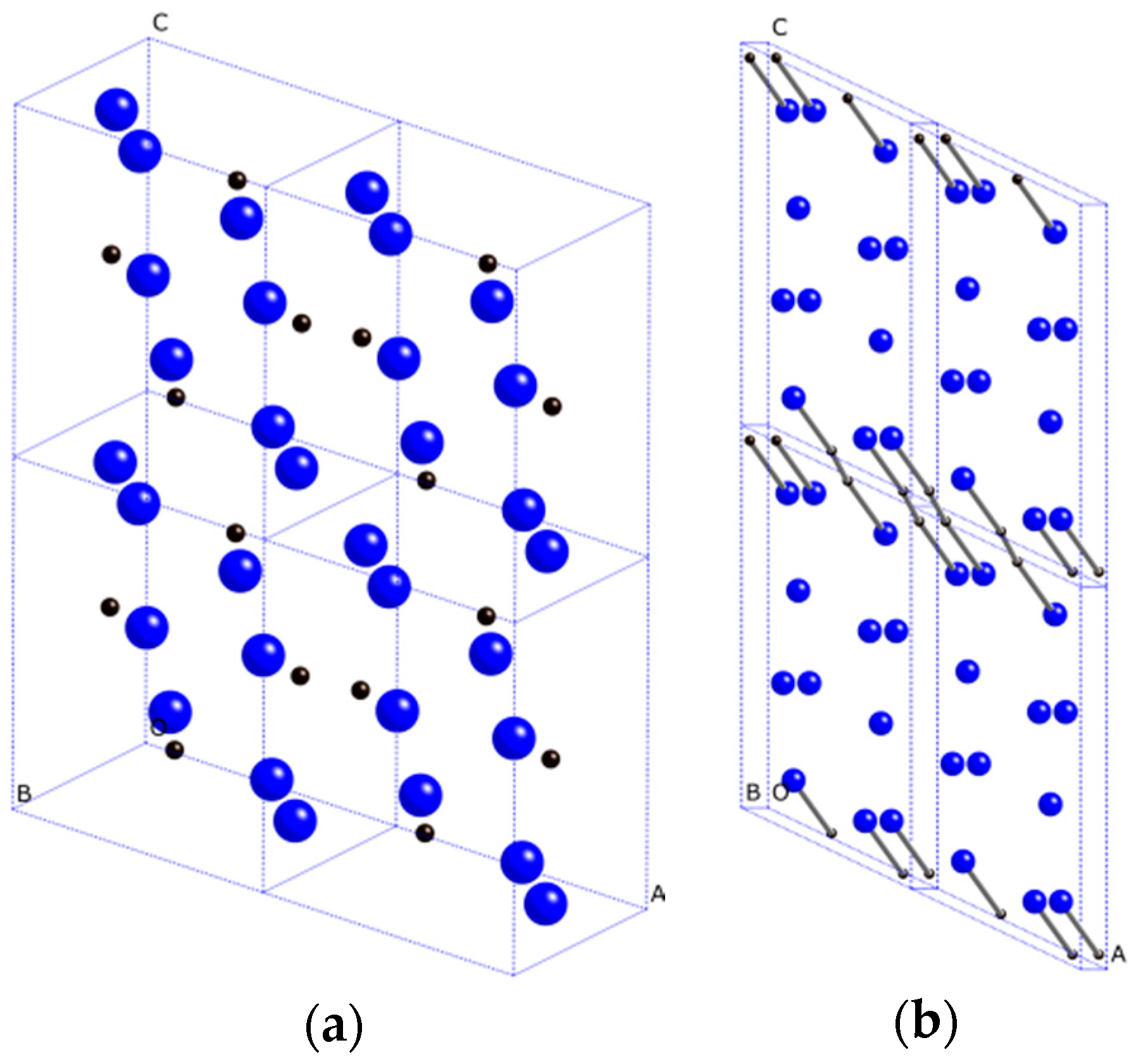 Materials Free Full Text Crystal Structures And Mechanical 3d Oxygen Atom Diagram Spheres Represent Carbon Atoms No