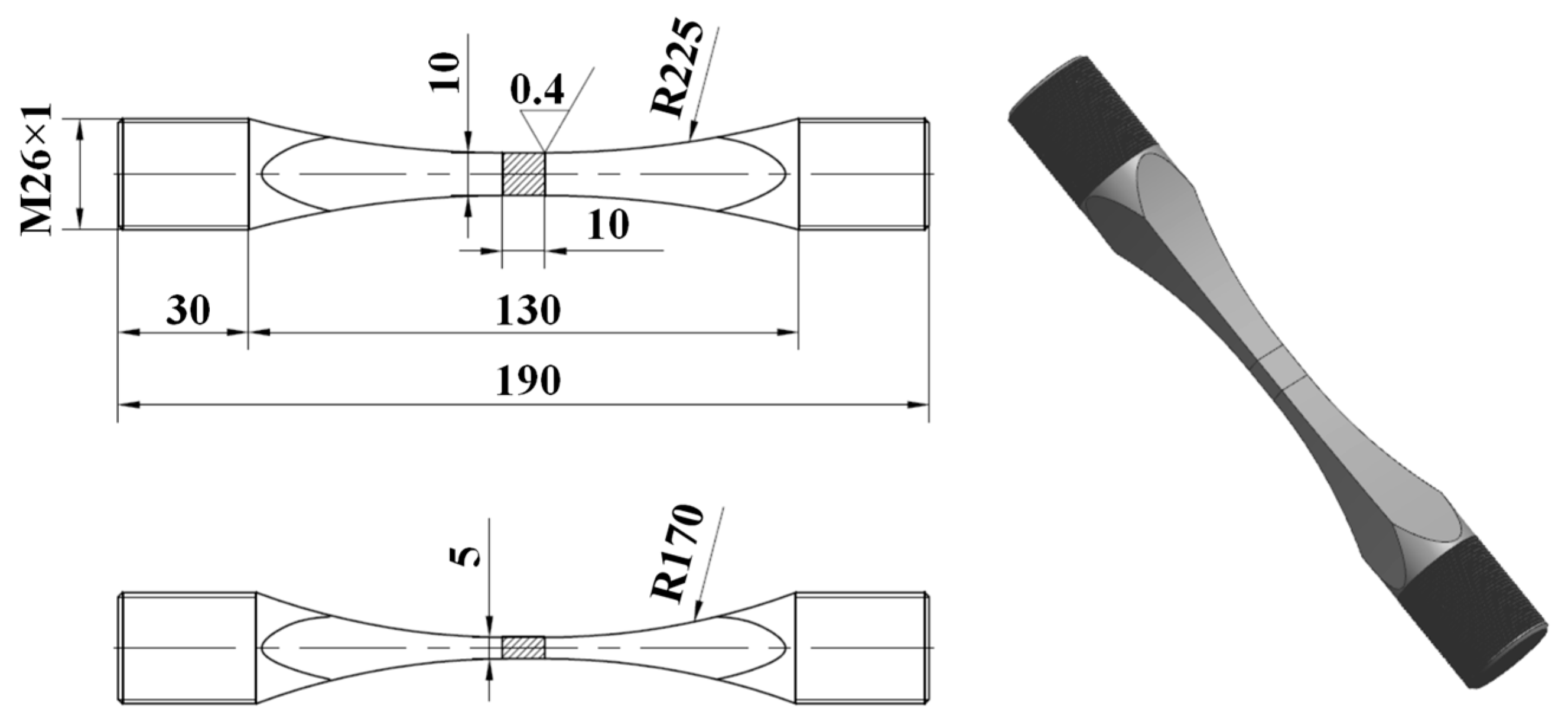 Metals Free Full Text Experimental Investigation On The Fatigue Thread Wj Vacuum Diagram 07 00158 G001