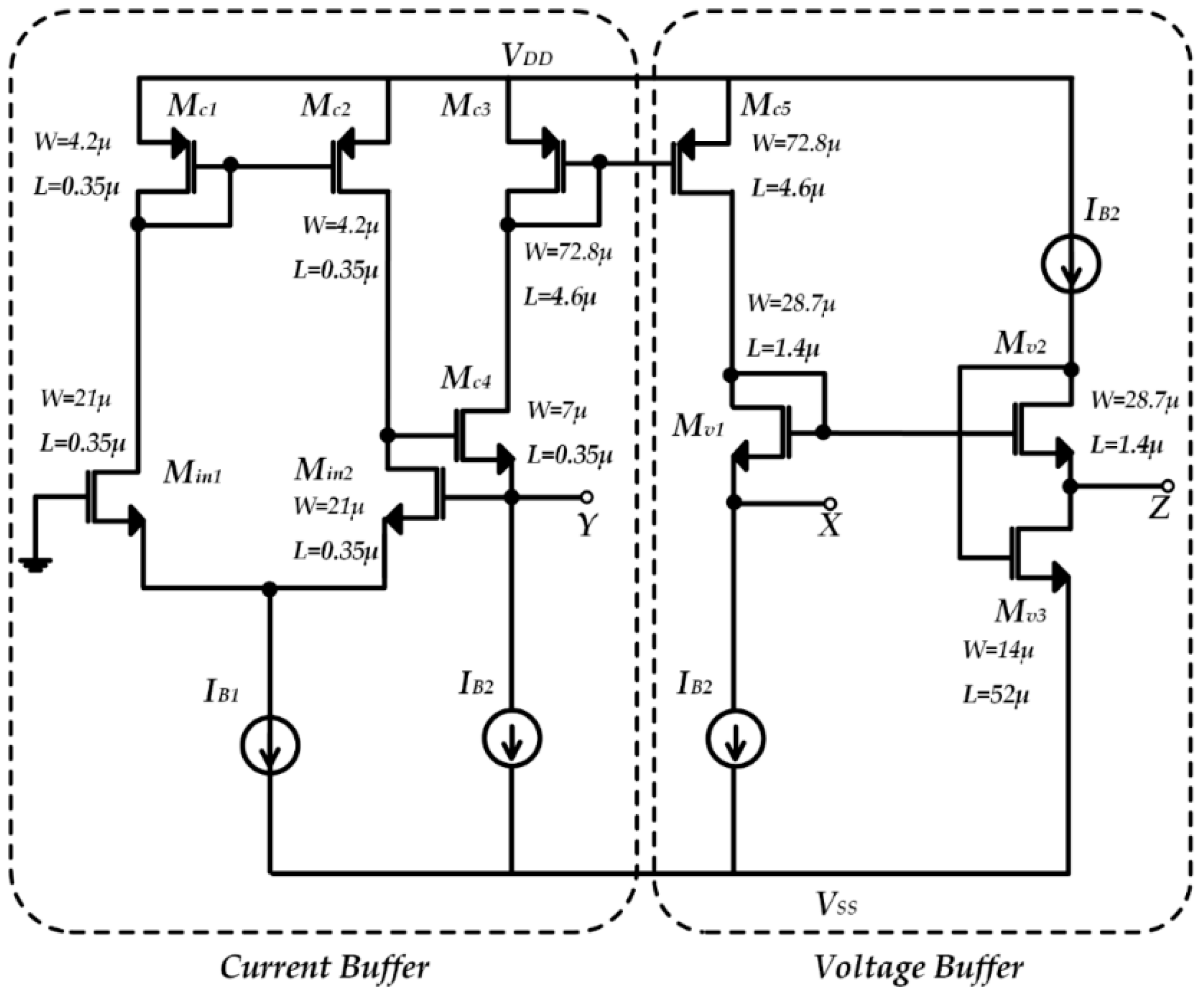 Micromachines Free Full Text A Novel Electronic Interface For Buffer Circuit Schematic Diagram 09 00507 G002 Figure 2