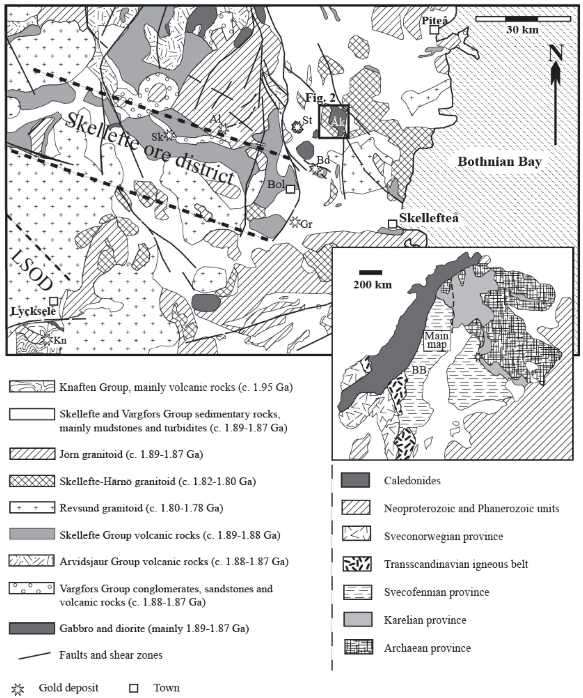 (Vsterbotten) mineralogiska och petrografiska karaktr