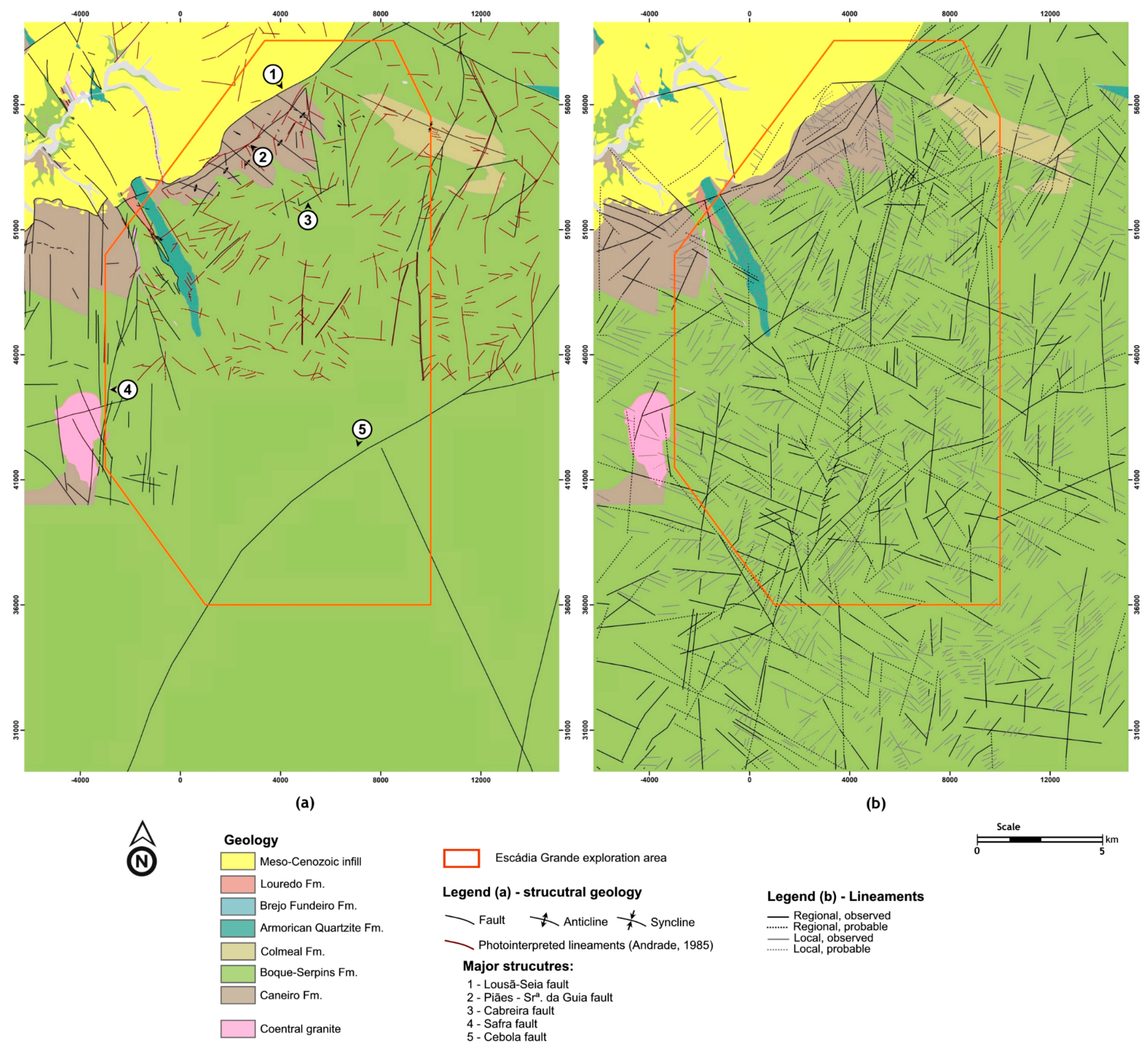 Minerals Free FullText Remote Sensing For Mineral Exploration - Portugal geology map