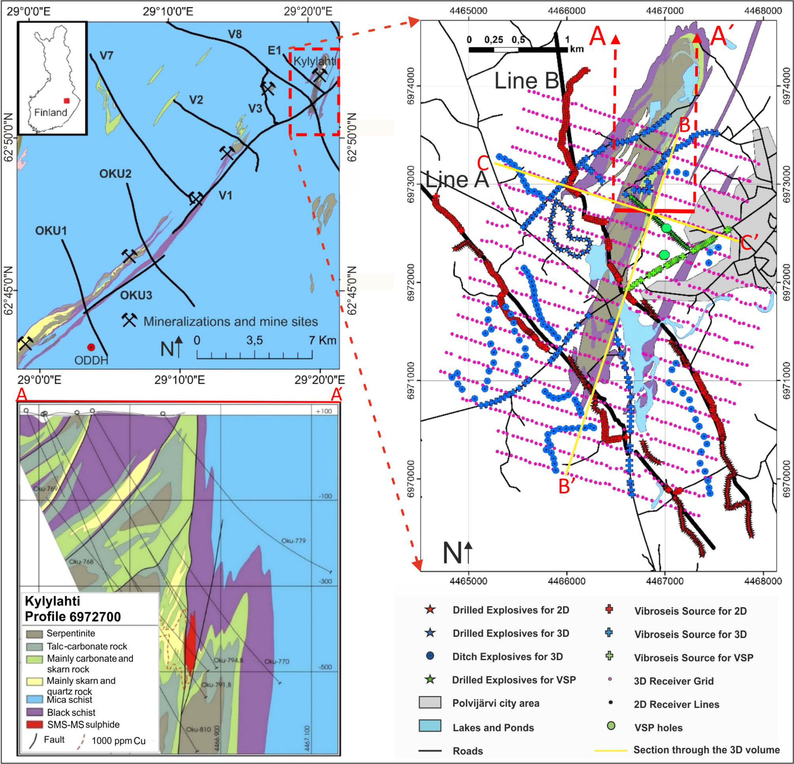 Minerals Free Full Text Sparse 3d Seismic Imaging In The Kylylahti Mine Area Eastern Finland Comparison Of Time Versus Depth Approach Html