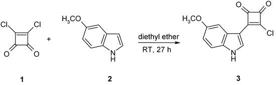 3-Chloro-4-5-methoxy-1H-indol-3-ylcyclobut-3-ene-1,2-dione