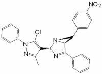 2-5-Chloro-3-methyl-1-phenyl-1H-pyrazol-4-yl-6-4-nitrophenyl-4-phenyl-1,3-diazabicyclo3.1.0hex-3-ene