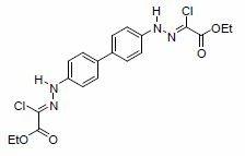 Diethyl 2,2-Biphenyl-4,4-diyldihydrazin-2-yl-1-ylidenebischloroacetate