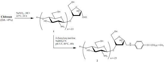 4-Hexyloxyaniline-linked chitooligosaccharide-2,5-anhydro-D-mannofuranose