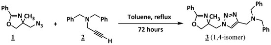 N,N-Dibenzyl-1-1-4-methyl-2-phenyl-4,5-dihydrooxazol-4-ylmethyl-1H-1,2,3-triazol-4-ylmethanamine