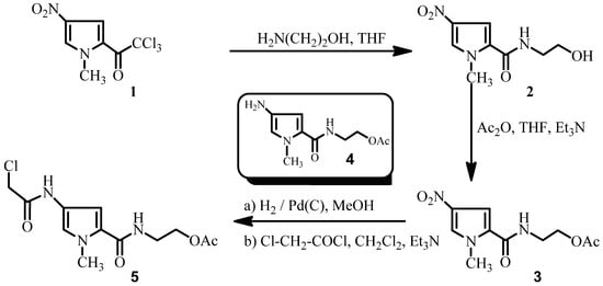 2-4-2-Chloroacetamido-1-methyl-1H-pyrrole-2-carboxamidoethyl Acetate