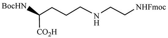 N2-tert-Butoxycarbonyl-N5-N-9-fluorenylmethyloxycarbonyl-2-aminoethyl-S-2,5-diaminopentanoic Acid