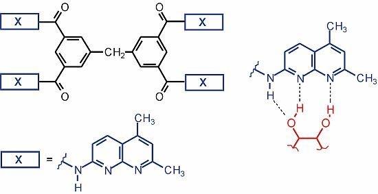N,N,N,N-Tetrakis5,7-dimethyl-1,8-naphthyridine-2-yl-3,3,5,5-diphenylmethanetetracarboxamide