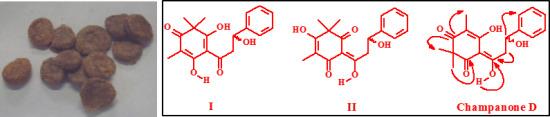 6-1,3-Dihydroxy-3-phenylpropylidene-5-hydroxy-2,2,4-trimethylcyclohex-4-ene-1,3-dione