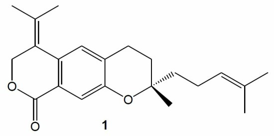 S-2-Methyl-2-4-methylpent-3-enyl-6-propan-2-ylidene-3,4,6,7-tetrahydropyrano4,3-gchromen-92H-one