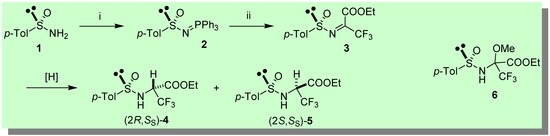 Facile and Stereoselective Synthesis of Non-Racemic 3,3,3-Trifluoroalanine