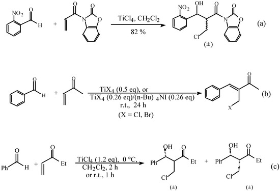 Halogeno Aldol Reaction of Ethyl Vinyl Ketone and Aldehydes Mediated by Titanium Tetrachloride