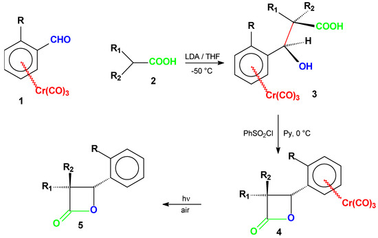 Tricarbonylh6-AreneChromium0 Complexes as Chiral Auxiliaries: Asymmetric Synthesis of b-Lactones