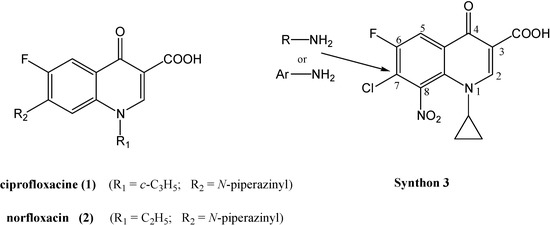 Synthesis and Antibacterial Properties of New 8-Nitrofluoroquinolone Derivatives