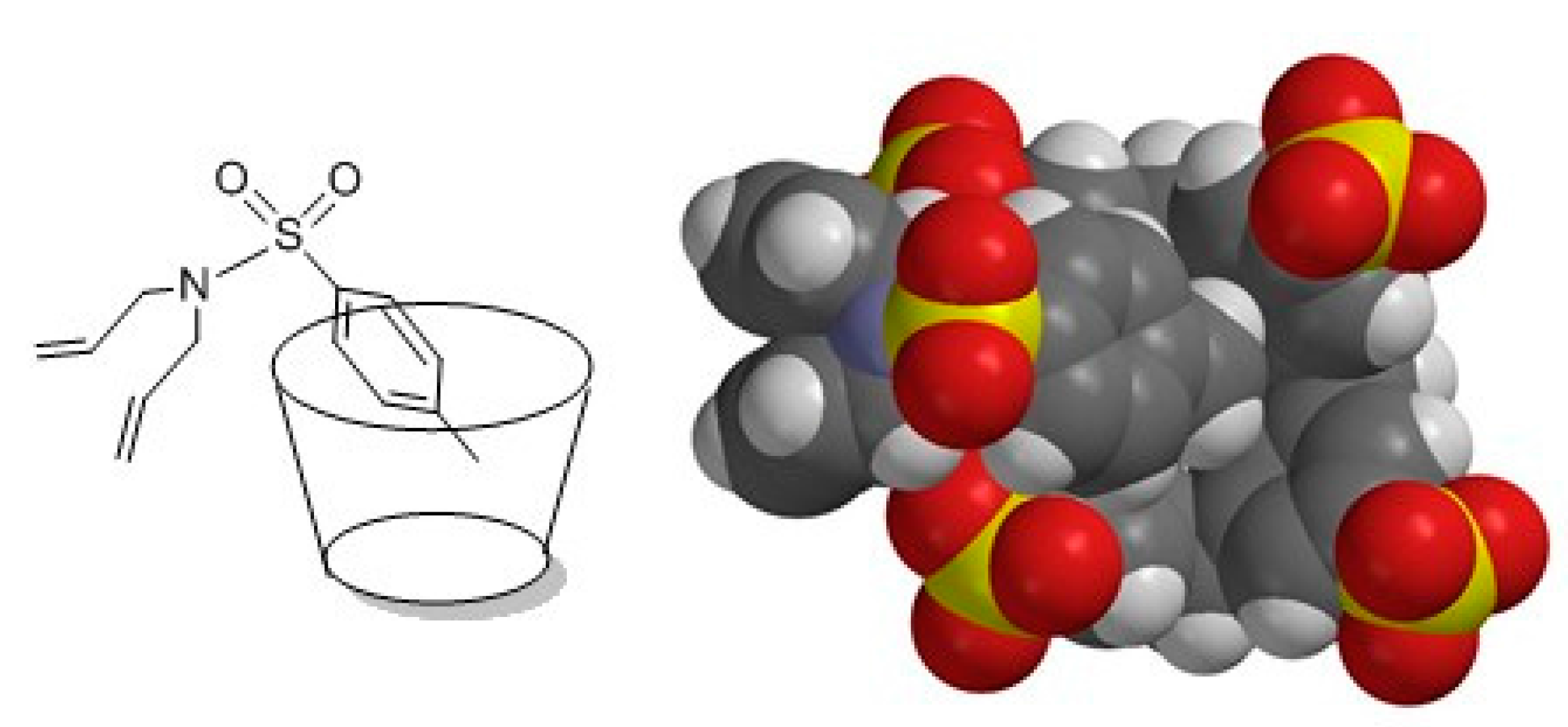 olefin metathesis in water Figure 8 schematic representation of complex conformation (left), mmff optimization of 1:1 complex of host 1a with guest 7 (right) - olefin metathesis reaction in water and in air improved by supramolecular additives.