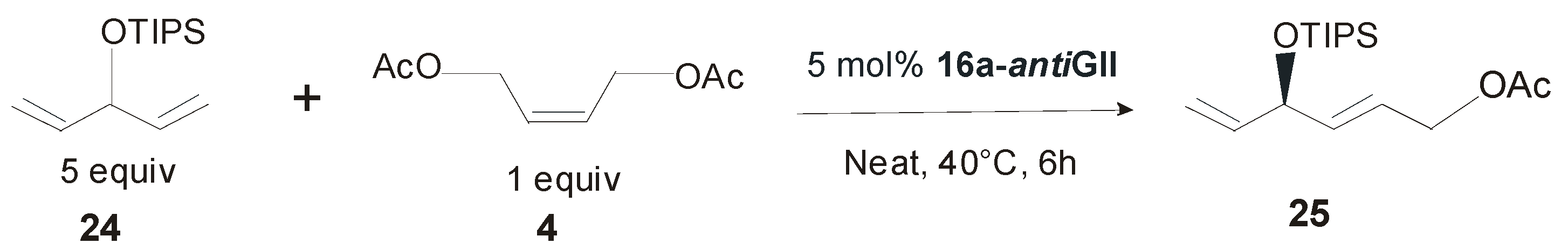 Ruthenium catalyzed olefin metathesis
