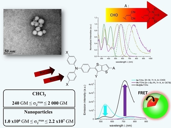Molecular-Based Fluorescent Nanoparticles Built from Dedicated Dipolar Thienothiophene Dyes as Ultra-Bright Green to NIR Nanoemitters