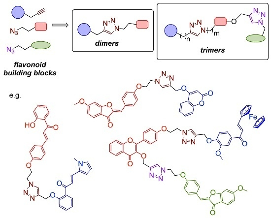 Combinatorial Synthesis of Structurally Diverse Triazole-Bridged Flavonoid Dimers and Trimers