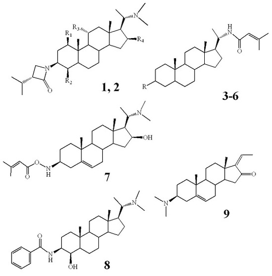 Terminamines K–S, Antimetastatic Pregnane Alkaloids from the Whole Herb of Pachysandra terminalis