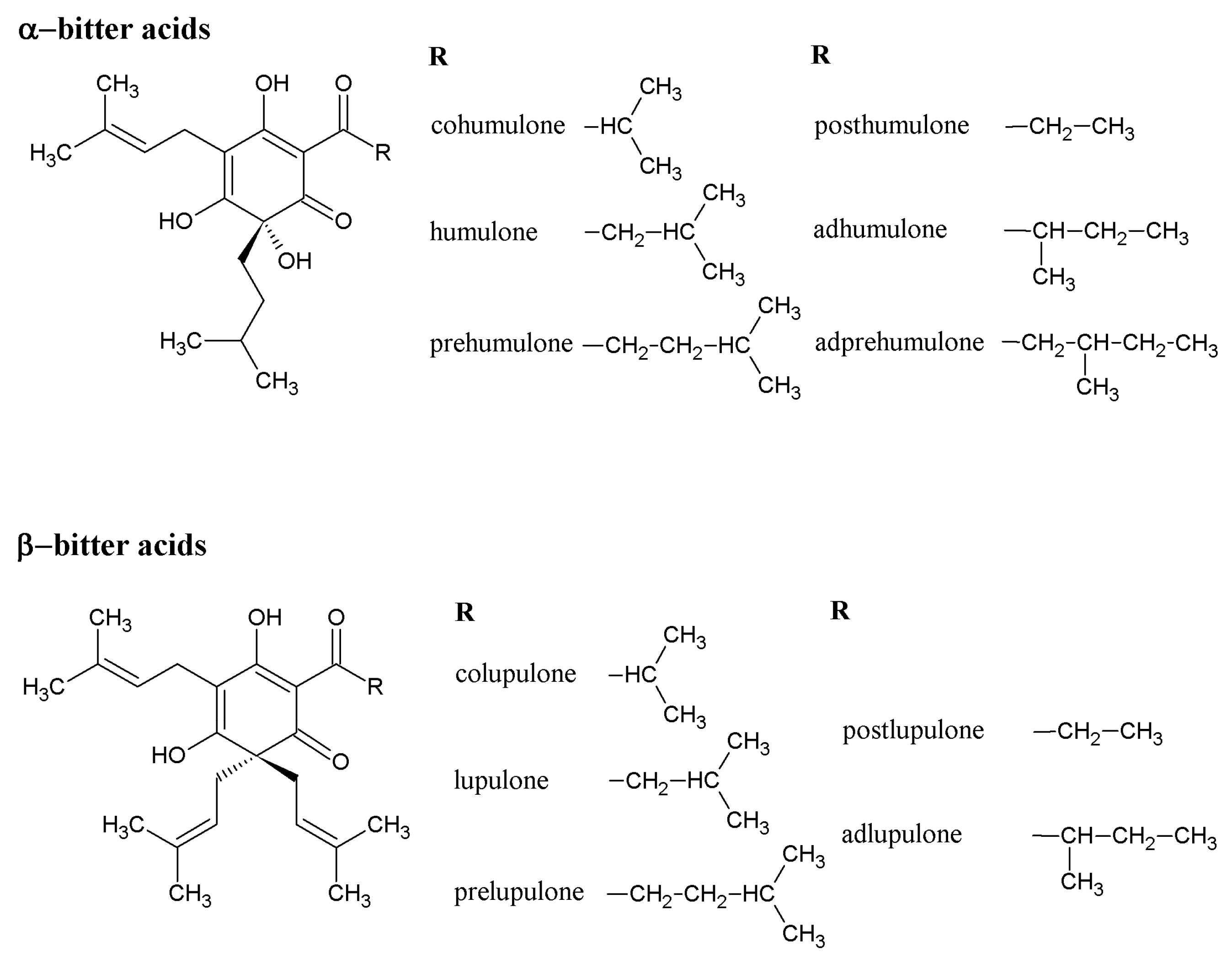 Molecules free full text hop phytochemicals and their potential molecules 22 01761 g001 falaconquin