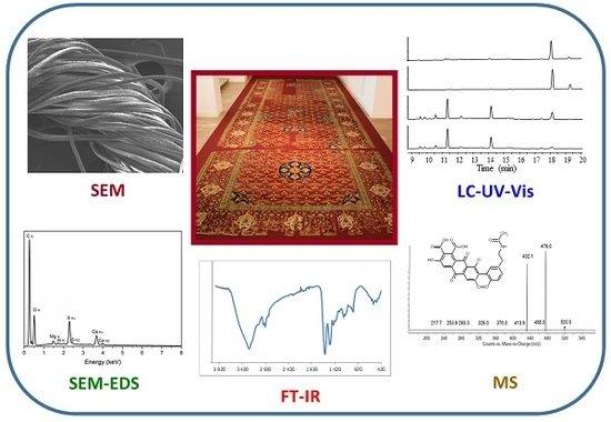 Molecules, Vol. 23, Pages 339: Chromatographic and Spectroscopic Identification and Recognition of Natural Dyes, Uncommon Dyestuff Components, and Mordants: Case Study of a 16th Century Carpet with Chintamani Motifs