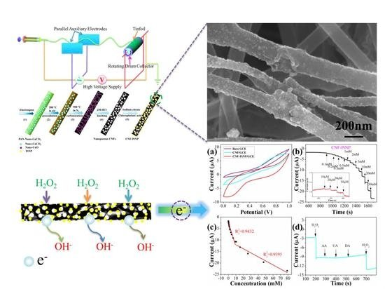 Nanoporous Carbon Nanofibers Decorated with Platinum Nanoparticles for Non-Enzymatic Electrochemical Sensing of H2O2