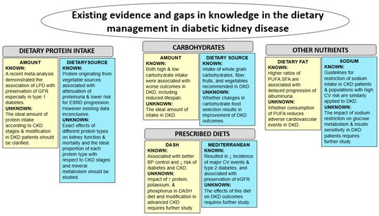 Nutrients Free Full Text Dietary Approaches In The Management Of Diabetic Patients With Kidney Disease Html