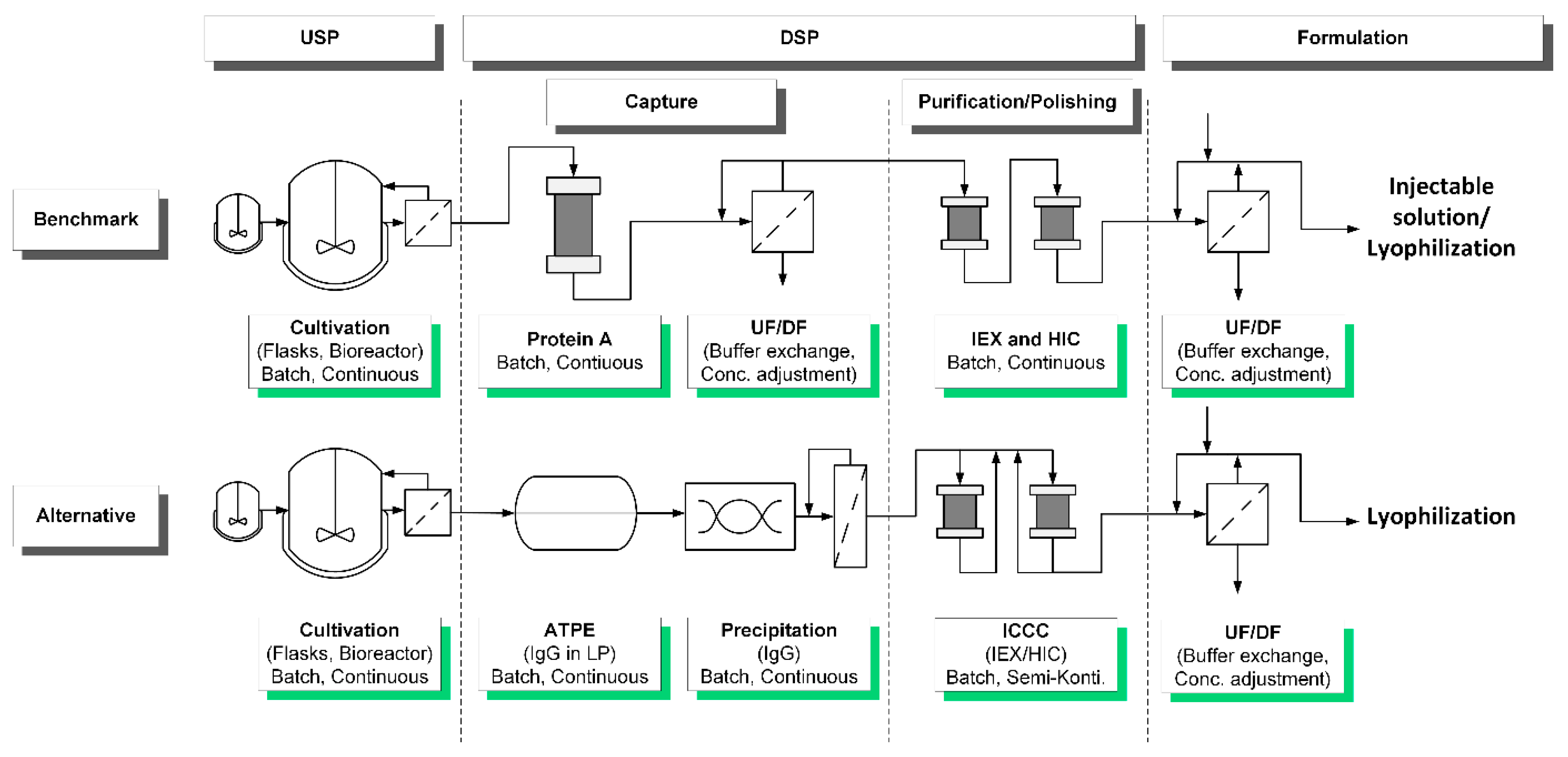 Processes   Free Full-Text   Accelerating Biologics Manufacturing by  Modeling: Process Integration of Precipitation in mAb Downstream Processing